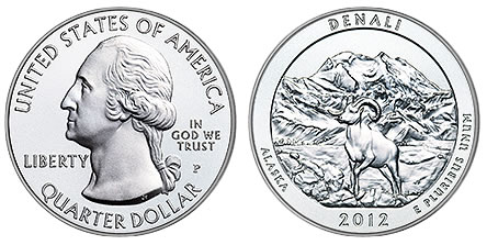 2012-P Denali National Park Silver Uncirculated Coin