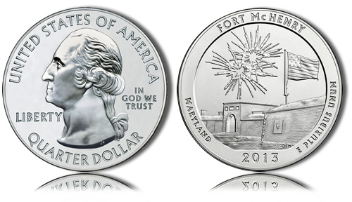 2013 Fort McHenry Silver Coin