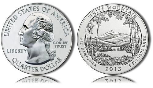 2013 White Mountain Silver Coin