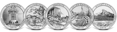 2010 America the Beautiful 5 Ounce Silver Bullion Coins