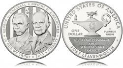 5-Star Generals Commemorative Silver Dollar (US Mint images)