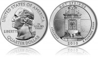 Hot Springs 5 oz Silver Bullion Coin