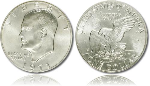 Silver Eisenhower Dollar