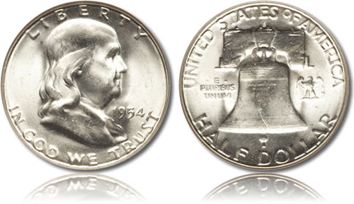 Silver Franklin Half Dollar