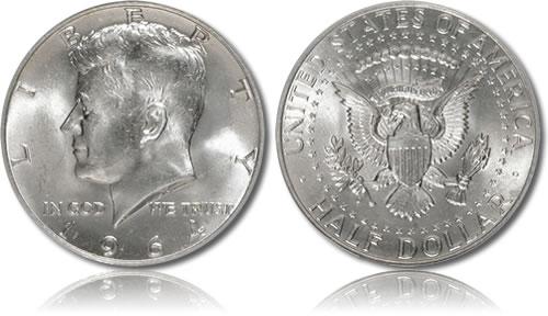 Silver Kennedy Half Dollar
