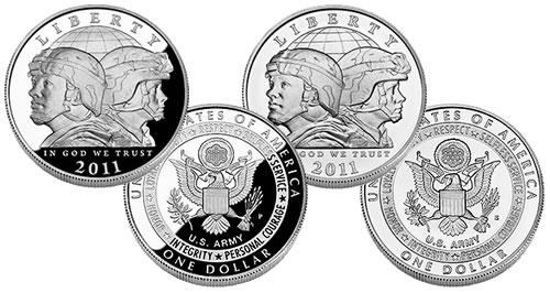 U.S. Army Silver Dollar Commemorative Coins