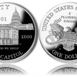 2001 Capitol Visitor Center Silver Dollar Commemorative Coins