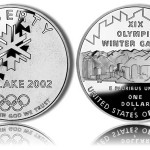 2002-P Proof Olympic Salt Lake City Silver Dollar Commemorative Coin