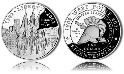 2002-W Proof West Point Silver Dollar Commemorative Coin