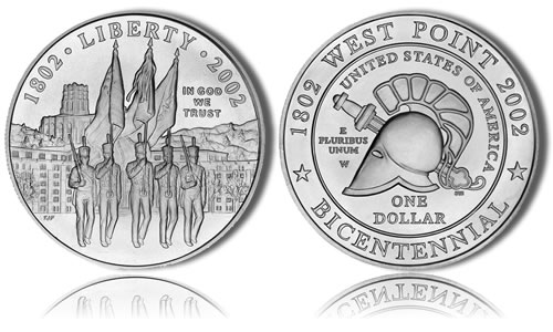 2002-W Uncirculated West Point Silver Dollar Commemorative Coin