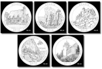 2012 Acadia Silver Bullion Coin Designs