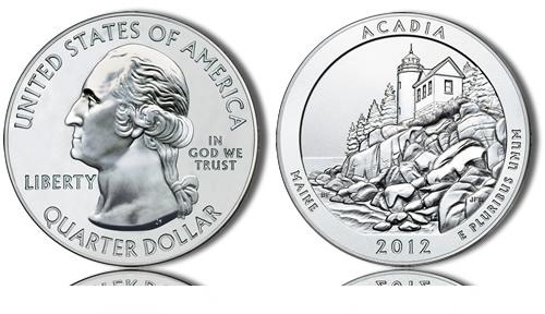 2012 Acadia Silver Coin