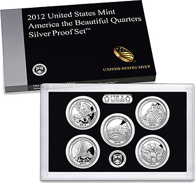 2012 S Mint Silver Proof ACADIA National Historic PARK QUARTER Maine 90/% Silver