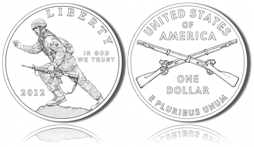 2012 Infantry Soldier Silver Dollar Commemorative Coin Designs