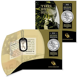 2012 Infantry Soldier Silver Dollar Defenders of Freedom Set