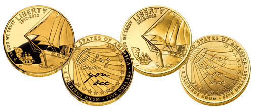 2012 Star Spangled Banner $5 Gold Commemorative Coins