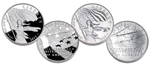 2012 Star Spangled Banner Silver Dollar Commemorative Coins