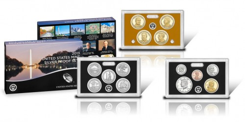 2013 Silver Proof Set - Coins and Packaging