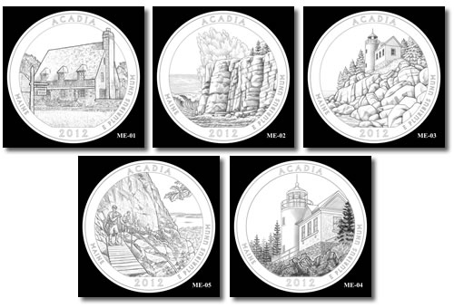Acadia Silver Bullion Coin Designs