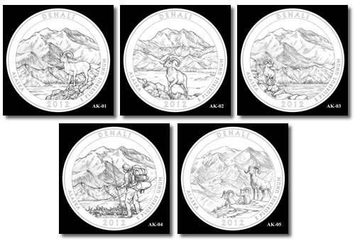 Denali Silver Bullion Coin Designs
