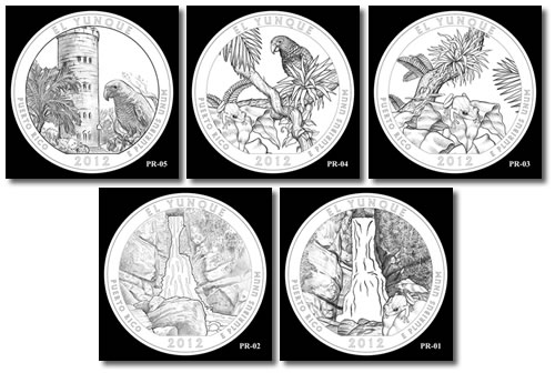 El Yunque Silver Bullion Coin Designs