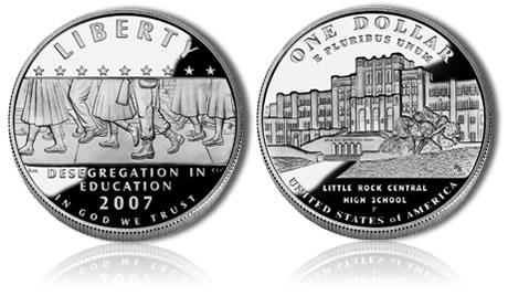 2007 Little Rock Desegregation 90/% Silver Proof Dollar Commemorative US Coin Set
