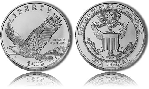Uncirculated 2008 Bald Eagle Silver Dollar Commemorative Coin