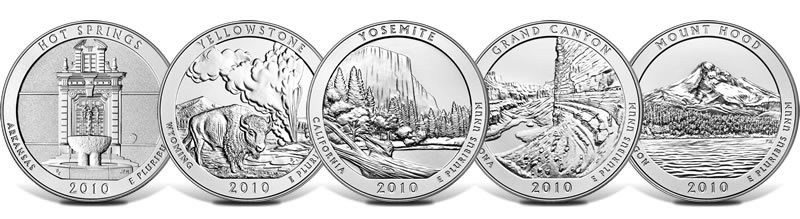 2010 America the Beautiful 5 Ounce Silver Uncirculated