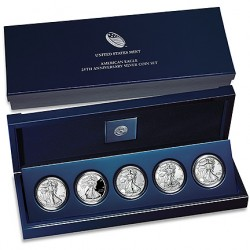 2011 American Eagle 25th Anniversary Silver Eagle Set (US Mint image)