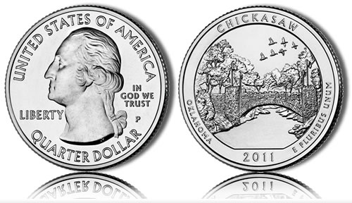 2011 Chickasaw America the Beautiful Coin