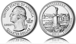 2011 Gettysburg America the Beautiful Coin