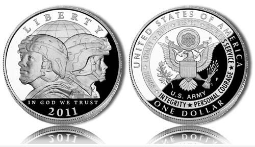 Army Silver Dollar