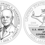 2013 5-Star Generals Commemorative Silver Dollar Coin (line-art)